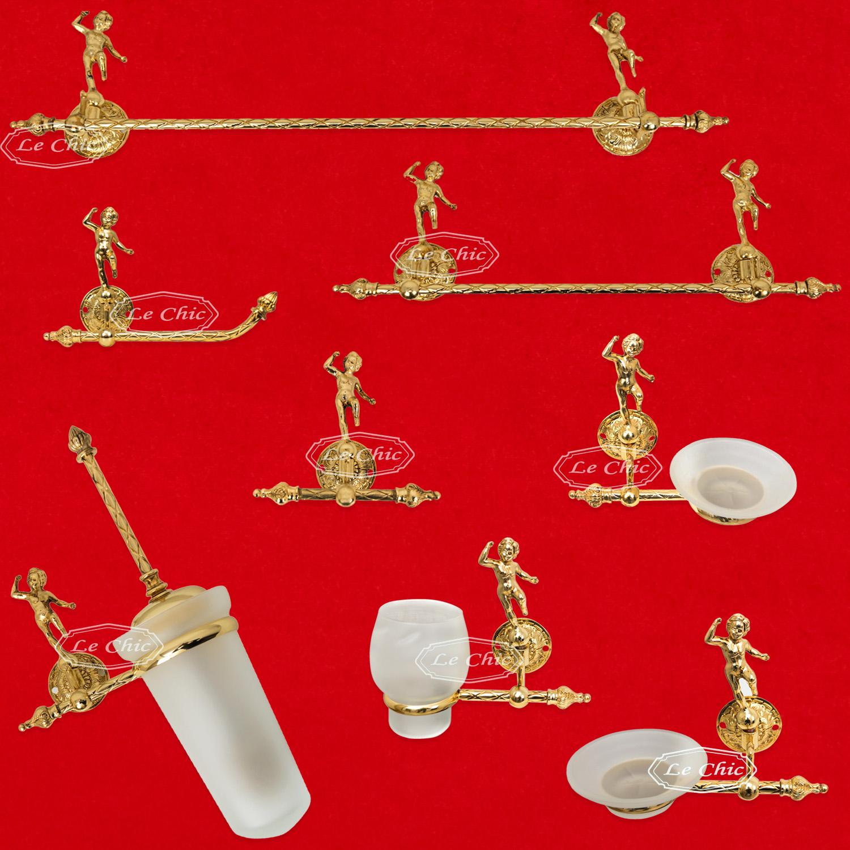 Accessori Dorati Per Bagno.Set Accessori Bagno Imperial Barocco Style In Ottone Bagno Oro Francese Le Chic Arredamenti
