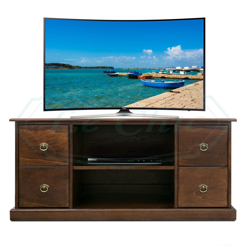 Tavolino Porta Tv Con Ruote.Porta Tv Basso Arte Povera Con Vano Dvd Decoder Mobile Tv Classico